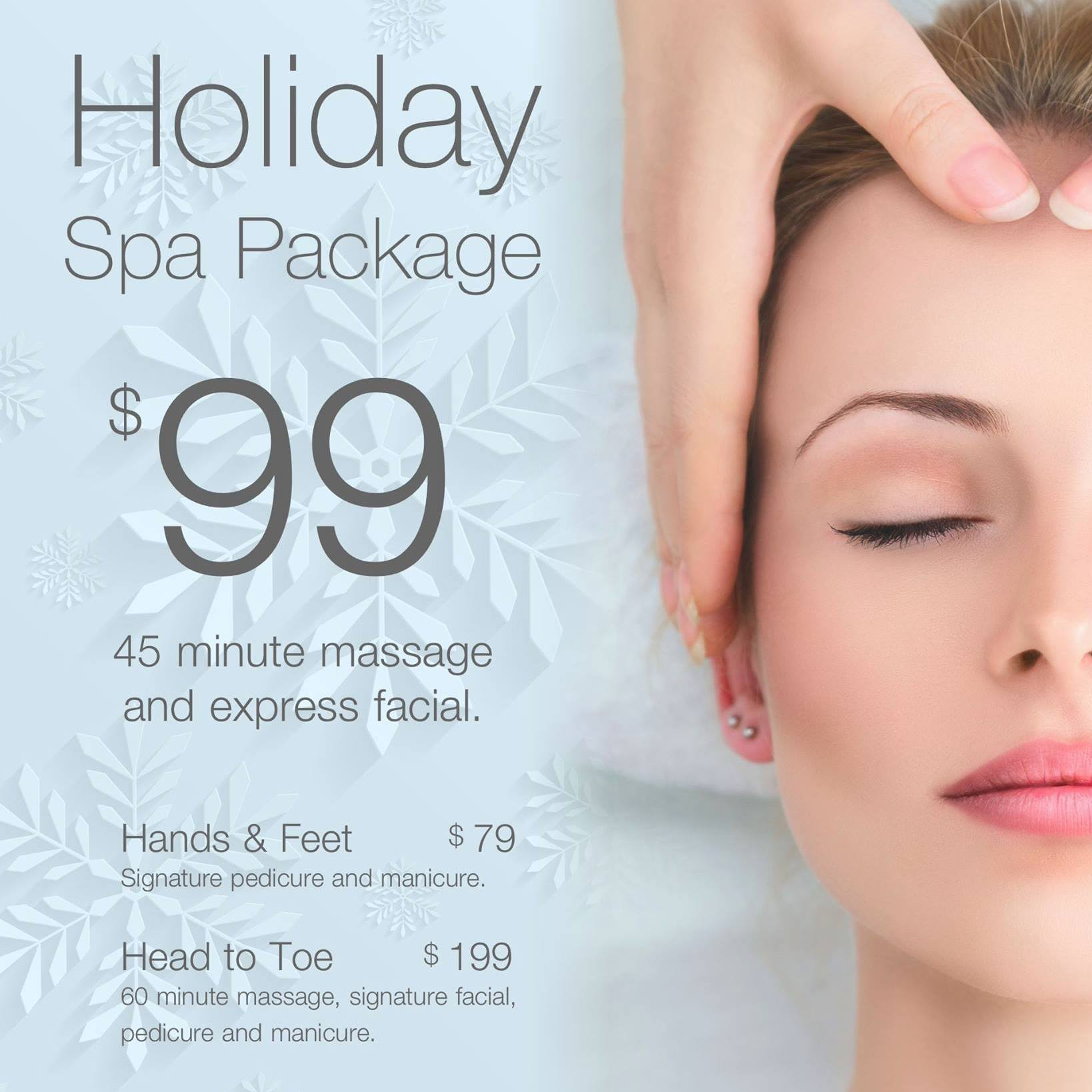 Holiday Spa Package at Phresh Spa Salon at The Shops at West End
